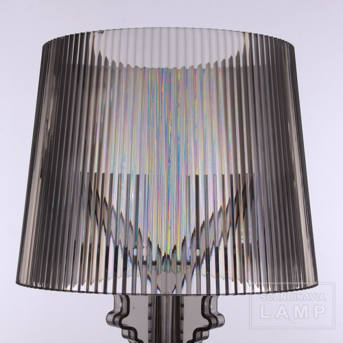The shade of Clear black Kartell bourgie table lamp