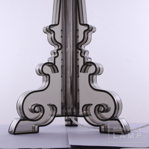 The base of Clear black Kartell bourgie table lamp