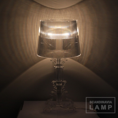 Clear Kartell bourgie table lamp