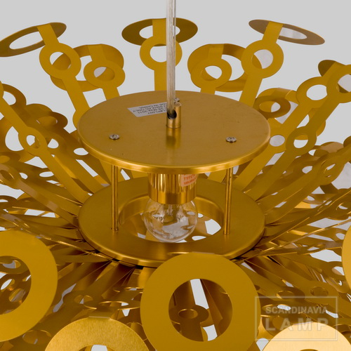 Gold Dandelion Pendant Light Designed by Richard Hutten