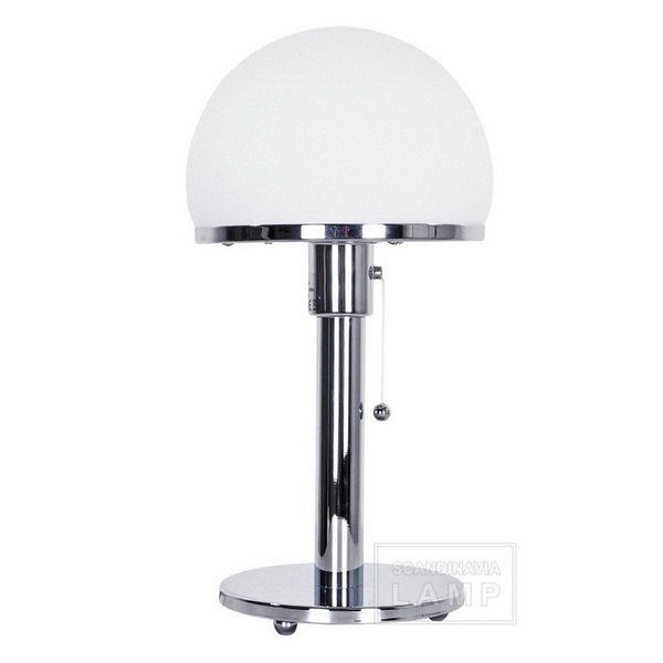 Replica of Wilhelm Wagenfeld's WG 24 Bauhaus table lamp