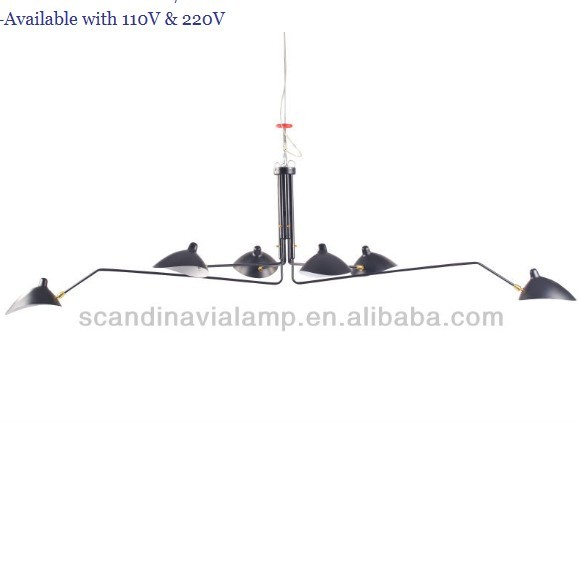 Serge Mouille Ceiling lamp Six-Arms