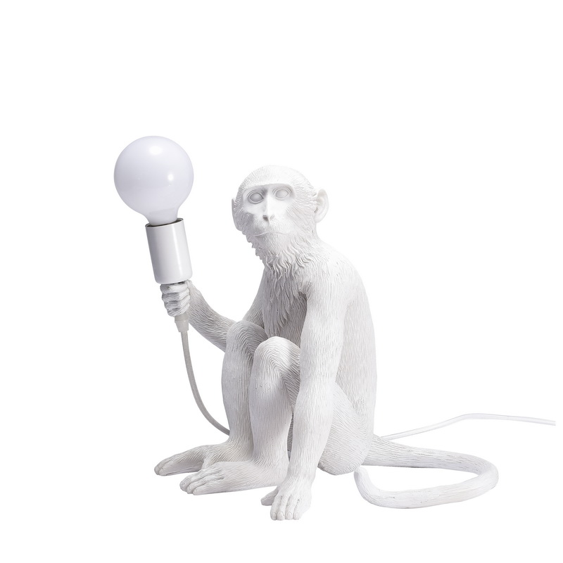 2017 new arrival monkey sitting table lamp best selling desk light home led fancy resin light
