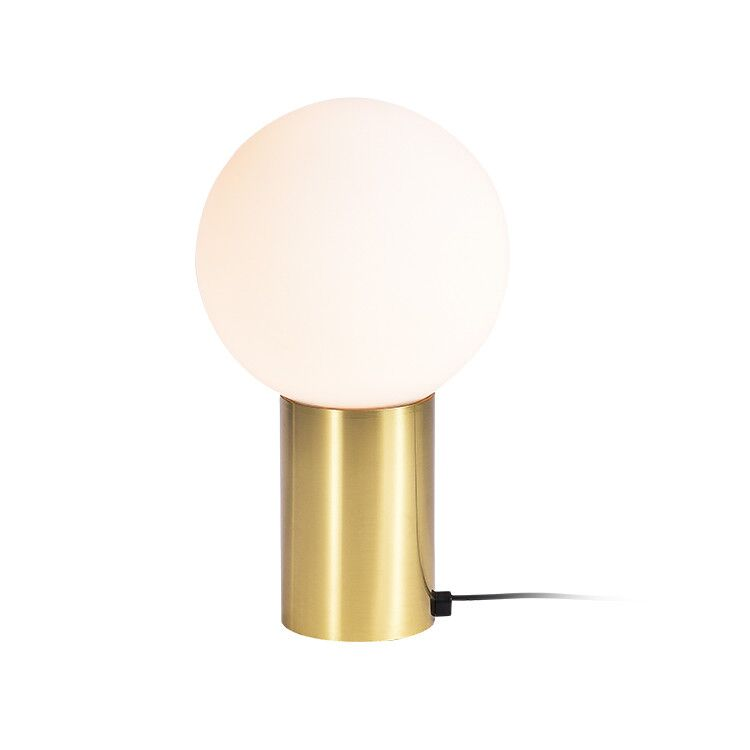 Modern Milk Glass Ball Table Lamp